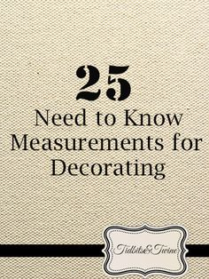 25 Need to Know Measurements for Decorating! Wonder how much spacing to leave between pictures, or the size coffee table you need to be buying, or how high to hang pictures on the wall? Wonder no more.read the link :) - Home Decorating Tips Diy Design, Interior Design Tips, Design Ideas, Interior Design For Beginners, Interior Design Business, Interior Designing, Interior Inspiration, Cute Dorm Rooms, Cool Rooms