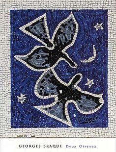 Deux Oiseux by Georges Braque