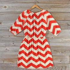Cross My Heart Chevron Dress, Sweet Women's Bohemian Clothing