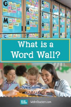 What Is a Word Wall? a wall with words and so much more. We Are Teachers -- Do you dream of a learning resource that makes your classroom look more academic, inviting, and kid friendly, even as it helps students become more independent? Preschool Word Walls, Word Wall Kindergarten, Word Wall Activities, Classroom Word Wall, Phonics Activities, Classroom Setup, Classroom Hacks, Classroom Organization, Teaching Phonics