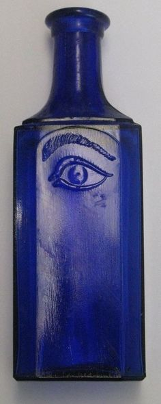A nice early Philly apothecary bottle. Old Medicine Bottles, Old Glass Bottles, Antique Bottles, Vintage Bottles, Bottles And Jars, Blue Bottle, Bottle Art, Cobalt Glass, Cobalt Blue