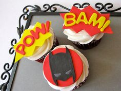 batman cupcakes-for bardia bachelor party!