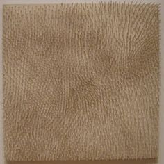 'White Field' by Günther Uecker, 1964, painted nails on painted canvasboard, Museum of Modern Art (New York City).jpg