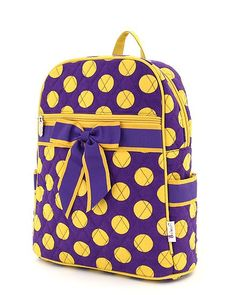Purple with Gold Polka Dots Backpack - $24.99 : Country Homemade, Personalized & Monogrammed Gifts