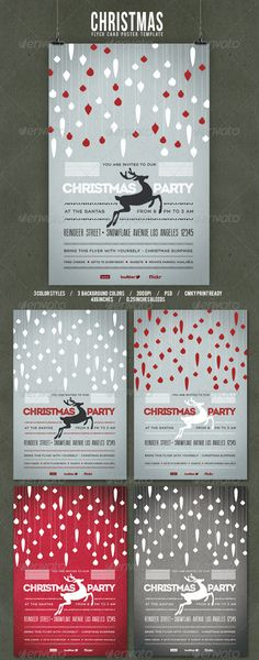 """Christmas Flyer/Poster Retro Vol.4 #GraphicRiver Christmas Flyer/Poster – Retro Vol. 4 Sweet vintage flyer/poster perfect for Christmas you can use for cheers, presents, invitations… Free Fonts Intro Inline fontfabric /intro-free-font/ Thin Design .dafont /it/thin-design.font Social Logos .dafont /social-logos.font Features 3 color versions many combinations PDS file 300 DPI CMYK Print size 4""""×6"""" 0.25"""" bleeds easy to edit all folders and layers are clearly named detailed design CHEERS AND…"""