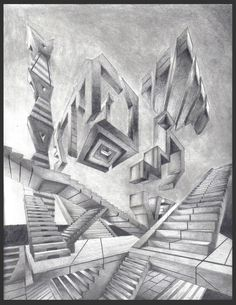 Abstract perspective drawing by on deviantart perspective art, linear perspective drawing, high Linear Perspective Drawing, One Point Perspective, Abstract Drawings, Pencil Drawings, Art Drawings, Project Abstract, Elements Of Art, Art Sketchbook, Art Inspo