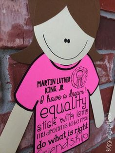 Martin Luther King, Jr. Craft, subway art, and fun activities in English and Spanish.