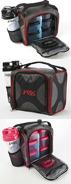 Jaxx Pack is a compact meal bag to pack and organize a full day's worth of meals, proteins, supplements and shakes. Visit www.Fit-Fresh.com to learn more  #lunchstyle
