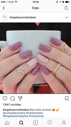 False nails have the advantage of offering a manicure worthy of the most advanced backstage and to hold longer than a simple nail polish. The problem is how to remove them without damaging your nails. Perfect Nails, Gorgeous Nails, Love Nails, Pink Nails, My Nails, Bridal Nails, Wedding Nails, Nagel Blog, Pretty Nail Art