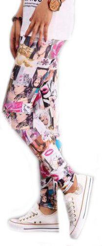 Amazon.co.jp: FrontStage ファッションショップ・アクトレスとリップマークorロックロゴの大胆レギンス (アクトレスとリップマーク): 服&ファッション小物通販