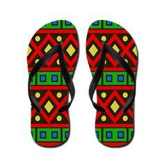 Tribal 1H Flip Flops by Terrella