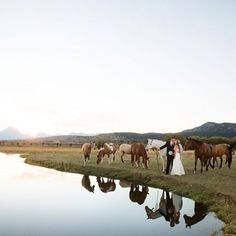 Debbie & Doug's love story is sure to chase away Monday blues! Read it today on the blog.  Photo: @heathererson  #married #weddinginspiration #jacksonhole #wyoming #jacksonholewedding #lakeside #kisses #horses #lovestory #romance #wedding #rockymountainbride #happymonday