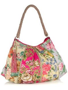 Monsoon / daybags / Garden Floral Patchwork Slouch Bag