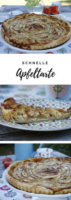 Schneller Apfelkuchen: Für das Apfeltarte Rezept braucht man nur wenige Zutaten. Die süße Tarte mit Blätterteig muss lediglich mit Äpfeln belegt werden und mit einer Sahne-Vanille-Ei-Masse übergossen werden. Die Blätterteig Tarte mit Äpfeln schmeckt sowohl kalt als auch warm sehr gut.