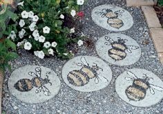Bees  I've done about 7 of these little cuties, The are bright yellow & black. Love them.