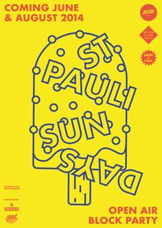 2014, poster for the electronic open air st. pauli sundays in hamburg/germany