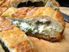 Stuffed Cheese Bread w/ Herbs #Recipe