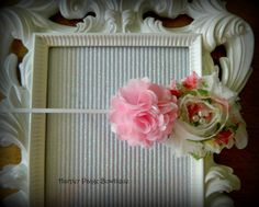 Pink and multicolored shabby flower headband with 3 pearls in the center. Great price and low shipping!