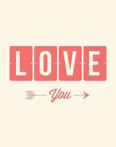 #love #you I typographic print