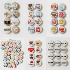 I love these Flair buttons made by Leena