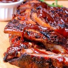 Here are some of our family's favorite Super Bowl BBQ Recipes (both the sweet and the savory). People will come just for the food with these recipes! Costillitas Bbq, Bbq Ribs, Pork Ribs, Barbecued Ribs, Pork Recipes, Healthy Recipes, Mexican Food Recipes, Cooking Recipes, Delicious Recipes
