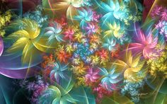 Fairy Flowers by wolfepaw.deviantart.com on @DeviantArt