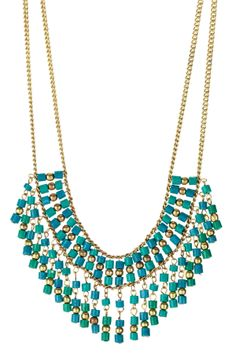 great turquoise beaded necklace