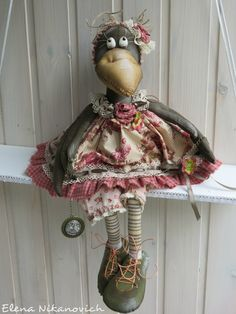 Crochet Toys Patterns, Craft Patterns, Stuffed Toys Patterns, Fabric Crafts, Sewing Crafts, Sewing Projects, Diy Crafts, Rabe, Autumn Crafts