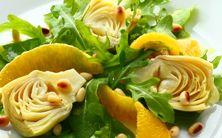 salada de rúcula com alcachofra marinada - 6