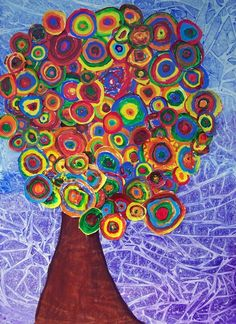Inspired by Kandinsky! art on Artsonia could be a great lesson for shape, pattern and color - Klimt / Kandinsky as references Group Art Projects, Collaborative Art Projects, School Art Projects, Kindergarten Art, Preschool Art, Art Kandinsky, Classe D'art, Ecole Art, Art Classroom