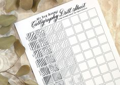 Not Your Average Calligraphy Drills Sheet | The Postman's Knock