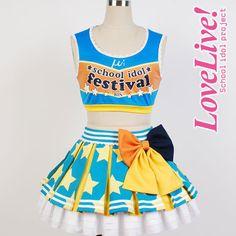 Hoshizora Rin  Lovelive school idol project μ's Cheerleaders Cosplay Full set