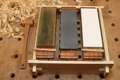 Japanese tools #8: Sharpening station for water stones the pond - by mafe @ LumberJocks.com ~ woodworking community