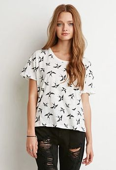 Sparrow Print Tee | Forever 21 | #thelatest
