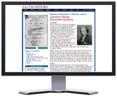 Salem History - one of the many databases available for FREE through www.emmaclark.org/ with your library card!