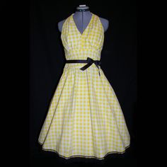 50's Style Cotton Sundress made from upcycled fabric. $50.00, via Etsy.