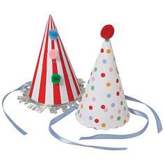 Party Hats Set Of 8 Birthday Striped Door Thepartydialect Fasching