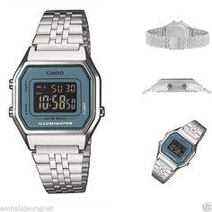 Reloj CASIO Collection LA680WEA-2BEF Vintage Plateado Caja Original y Garantia