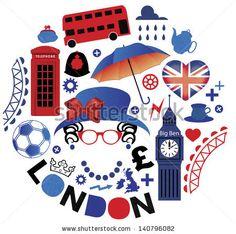 Pattern with London symbols by Moloko88, via Shutterstock
