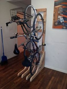 Vertical Bike Rack From 2x4s : 7 Steps (with Pictures) - Instructables