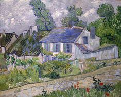 Houses in Auvers - Vincent van Gogh This is a lovely and interesting village outside of Paris. The museum of Van Gogh very good and Theo and Vincent buried next to each other there. Rembrandt, Claude Monet, Vincent Van Gogh, Van Gogh Museum, Art Museum, Van Gogh Arte, Van Gogh Pinturas, Toledo Museum Of Art, Art History