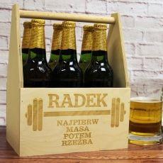 Personalizowane nosidło na piwo SIŁACZ idealny na urodziny