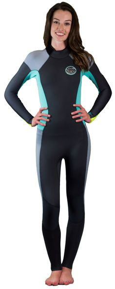 4/3mm Women's Rip Curl DAWN PATROL Full Wetsuit