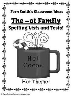 Spelling The -ot Family Word Work Lists & Tests #TPT $Paid