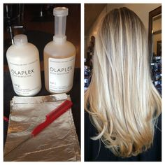 Olaplex Bond multiplier that dramatically eliminates breakage from chemical services.. I love it