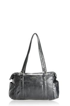 Pronta Moda Charlotte shoulder bag with front and side pockets