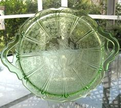 ~~Cherry Blossom Pattern 2 Handle Tray Jeannette Glass 1030-39~~