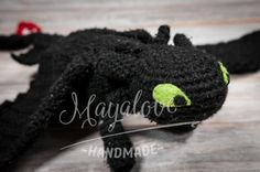 Nocna Furia - night fury - toothless made on crotchet