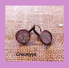 Dormeuses liberty capel rose : Boucles d'oreille par crocmyys