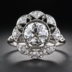 1.30 Carat Center Diamond Edwardian Ring Circa 1910.#Antique#Ring
